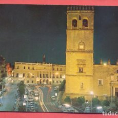 Postales: BADAJOZ, 904 VISTA NOCTURNA DE LA CATEDRAL Y AYUNTAMIENTO,, ED.PARIS , CIRCULADA 1994, VER FOTOS. Lote 221956830