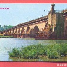 Postales: BADAJOZ, 936 PUENTE DE PALMA SOBRE EL RIO GUADIANA,, ED.PARIS , S/C, VER FOTOS. Lote 221957072