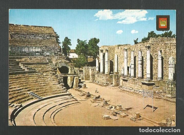 POSTAL SIN CIRCULAR - MERIDA 2 - TEATRO ROMANO - BADAJOZ - EDITA ESCUDO DE ORO (Postales - España - Extremadura Moderna (desde 1940))
