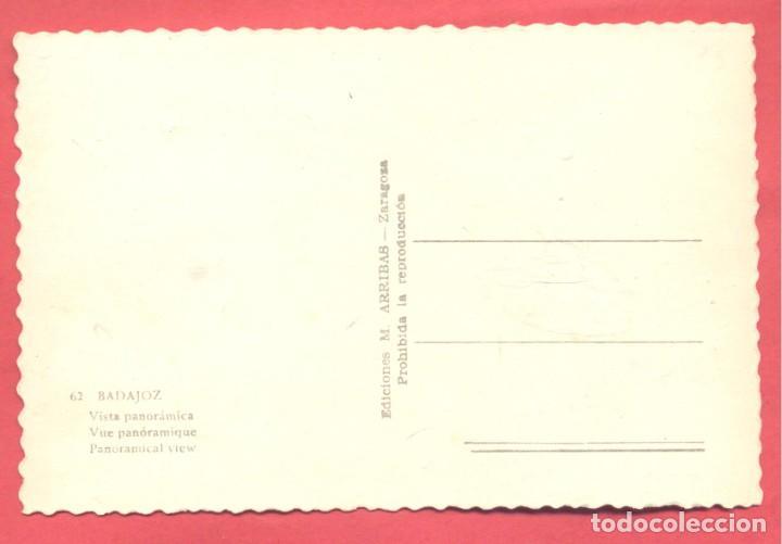Postales: badajoz 62 vista panoramica, variedad ed. m. arribas. en reverso dentada, s/c, - Foto 2 - 222396555