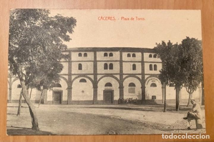 CÁCERES, PLAZA DE TOROS, POSTAL AÑOS 20/30 (Postales - España - Extremadura Antigua (hasta 1939))
