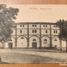 Postales: CÁCERES, PLAZA DE TOROS, POSTAL AÑOS 20/30. Lote 222505203