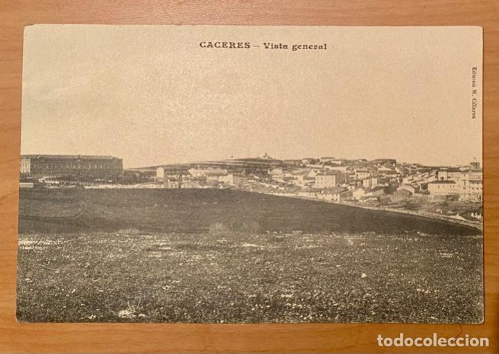 CÁCERES, VISTA GENERAL. POSTAL AÑOS 20/30 (Postales - España - Extremadura Antigua (hasta 1939))