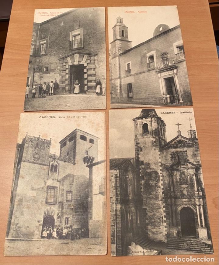 Postales: Cáceres, 20 postales antiguas años 20/30 . Originales, no son reproducciones - Foto 3 - 222510953