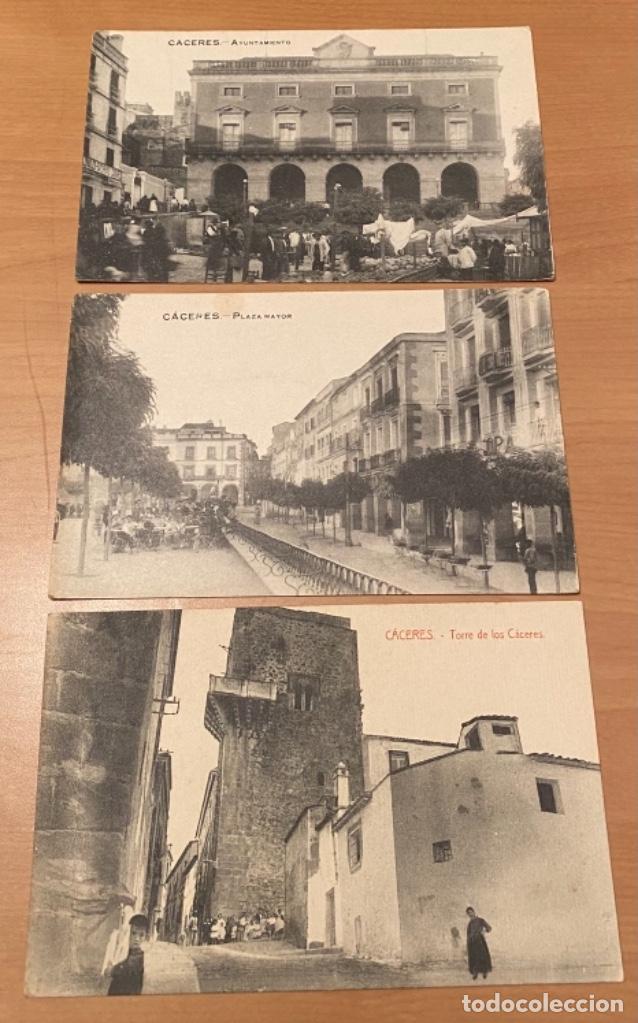 Postales: Cáceres, 20 postales antiguas años 20/30 . Originales, no son reproducciones - Foto 5 - 222510953