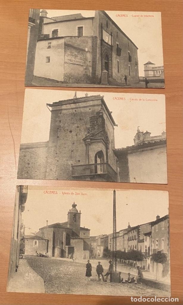Postales: Cáceres, 20 postales antiguas años 20/30 . Originales, no son reproducciones - Foto 8 - 222510953