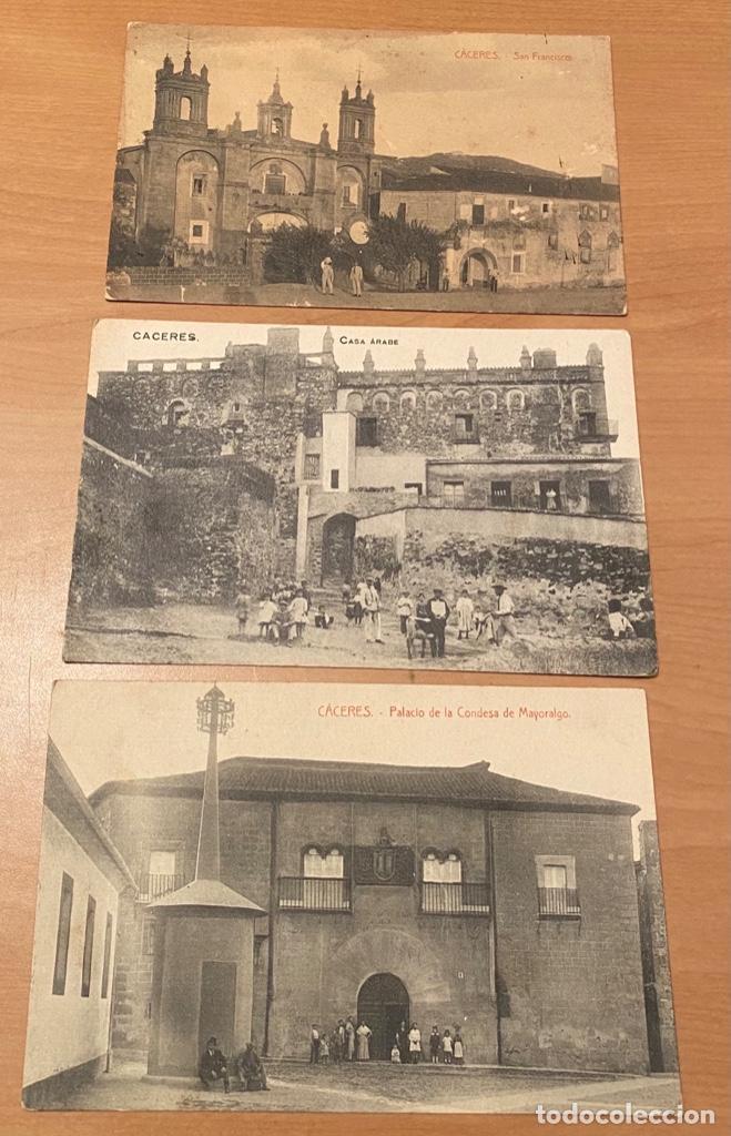Postales: Cáceres, 20 postales antiguas años 20/30 . Originales, no son reproducciones - Foto 12 - 222510953