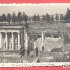 Postales: MERIDA (BADAJOZ) 83 VISTA PARCIAL DE LA ESCENA DEL TEATRO ROMANO Y PERISTILO,ED. ARRIBAS CIRCULADA. Lote 222811725