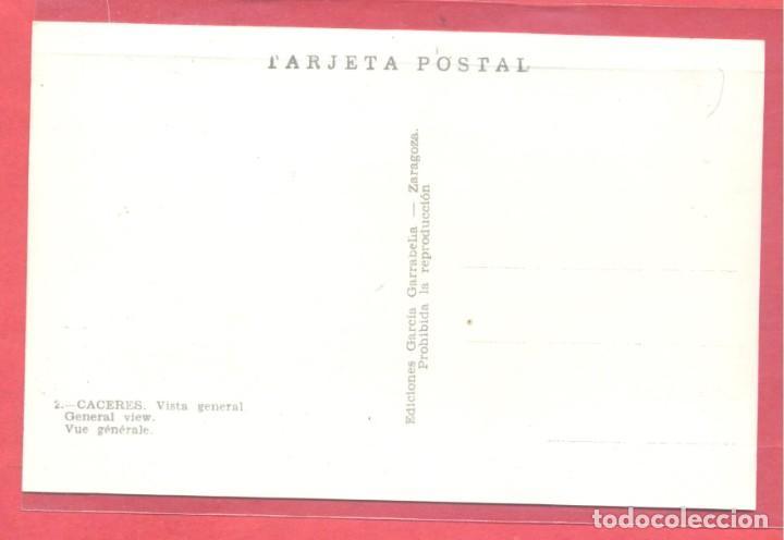 Postales: caceres 2 vista general, ediciones garcia garrabella,.lisa, s/c, ver fotos - Foto 2 - 222990306