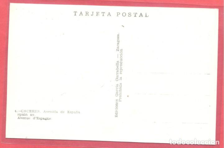 Postales: caceres 4 avenida de españa, ediciones garcia garrabella,.lisa, s/c, ver fotos - Foto 2 - 222990498