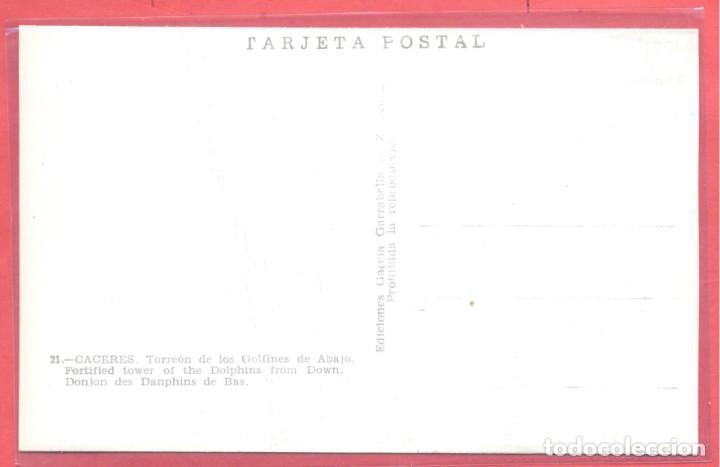 Postales: caceres 21 torreon de los golfines de abajo, ediciones garcia garrabella,.lisa, s/c, ver fotos - Foto 2 - 222990983