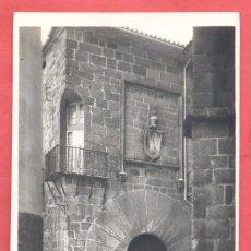Postales: 22 CACERES, CASA DE CARVAJAL, SIGLO XIV PUERTA Y ....... TITULOS EN ANVERSO, S/C, SIN EDITOR. Lote 223757770