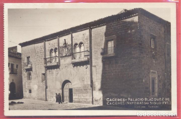 CACERES, PALACIO BLAZQUEZ DE MAYORAZGO SIGLO XVI EDI. FLORIANO, S/C, VER FOTOS (Postales - España - Extremadura Antigua (hasta 1939))