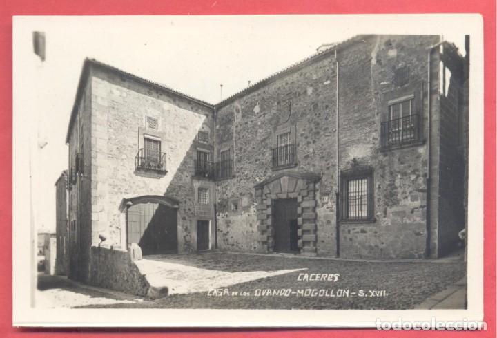CACERES, CASA DE LOS OVANDO-MOGOLLON S.XVII, ED. GM/WB S/C. RESTOS DE DESPEGADA EN REVERSO (Postales - España - Extremadura Antigua (hasta 1939))
