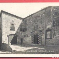 Postales: CACERES, CASA DE LOS OVANDO-MOGOLLON S.XVII, ED. GM/WB S/C. RESTOS DE DESPEGADA EN REVERSO. Lote 223816886