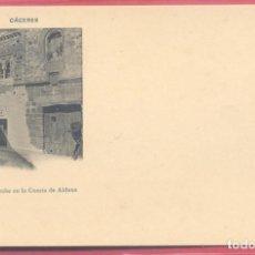 Postales: CACERES, CASA ARABE DE LA CUESTA DE ALDANA, FOT. ECHALUCE.PAPELERIA ALCOYANA, REVERSO SIN DIVIDIR,. Lote 223821786