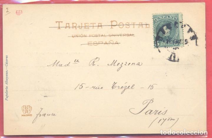 Postales: caceres, casa de las veletas, antiguo generalife, fot. echaluce.papeleria alcoyana, circulada 1905? - Foto 2 - 223822123