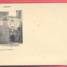 Postales: CACERES, CASA DE LOS GOLFINES, FOT. ECHALUCE.PAPELERIA ALCOYANA, REVERSO SIN DIVIDIR, S/C, VER FOTOS. Lote 223822652