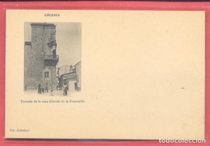 CACERES, TORREON DE LA CASA CIRCULO DE LA CONCORDIA, FOT. ECHALUCE.PAPELERIA ALCOYANA, S/C (Postales - España - Extremadura Antigua (hasta 1939))
