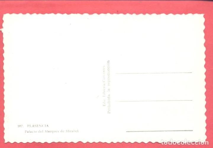 Postales: plasencia (caceres) 107 palacio del marques de mirabel, edic. libreria cervantes, s/c .ver fotos - Foto 2 - 223857448