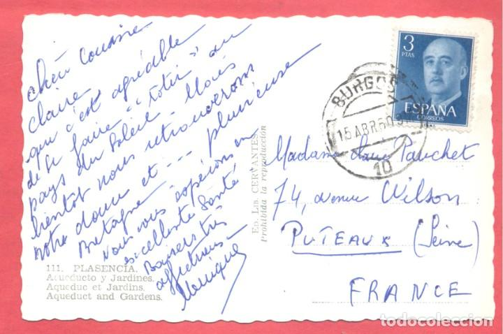 Postales: plasencia (caceres) 111 acueducto y jardines, ed. libreria cervantes, circulada 1960 .ver fotos - Foto 2 - 223858417