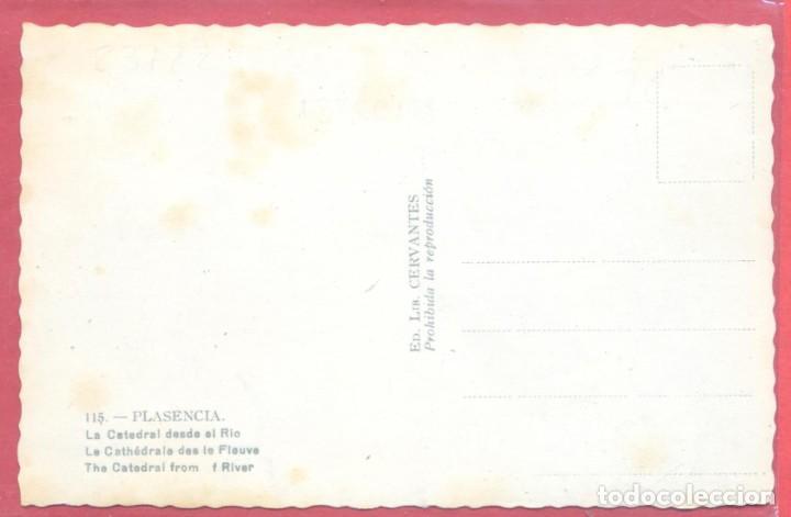 Postales: plasencia (caceres) 115 la catedral desde el rio, ed. lib. cervantes, s/c - Foto 2 - 223859153