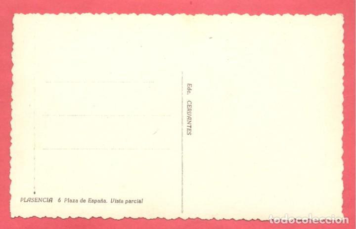 Postales: plasencia (caceres) 6 plaza de españa. vista parcial, edc. cervantes, s/c - Foto 2 - 223859755