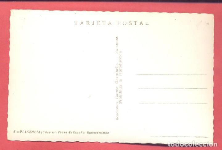 Postales: plasencia (caceres) 6 plaza de españa y ayuntamiento, ediciones garcia garrabella, s/c, ver fotos - Foto 2 - 223928880