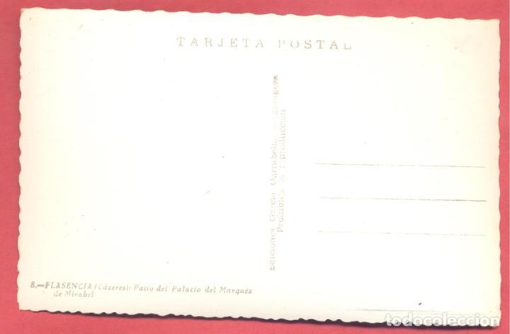 Postales: plasencia (caceres) 8 patio del palacio del marques de mirabel , ediciones garcia garrabella, s/c, - Foto 2 - 223929120