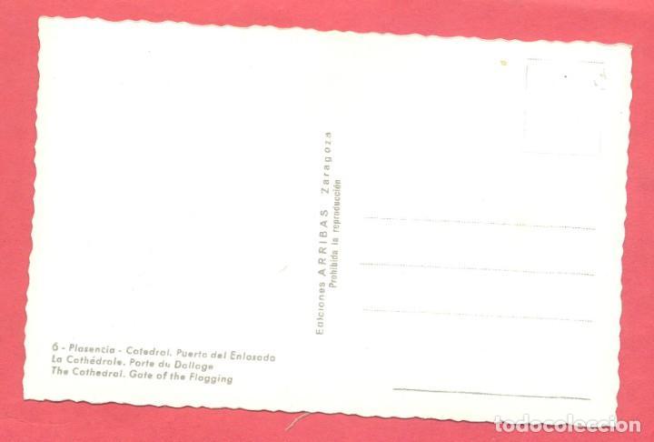 Postales: plasencia (caceres) 6 catedral. puerta del enlosado, ed. arribas,s/c, ver fotos - Foto 2 - 223935093