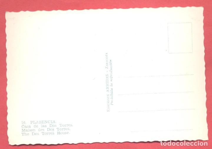 Postales: plasencia (caceres) 16 casa de las dos torres, ed. arribas, s/c ver fotos - Foto 2 - 223936947