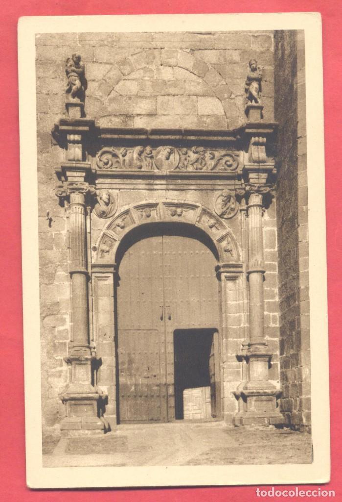 CACERES, PORTADA DE SAN MATEO SIGLO XVI,SIN EDITOR, COLOR SEPIA, S/C, , VER FOTOS (Postales - España - Extremadura Antigua (hasta 1939))