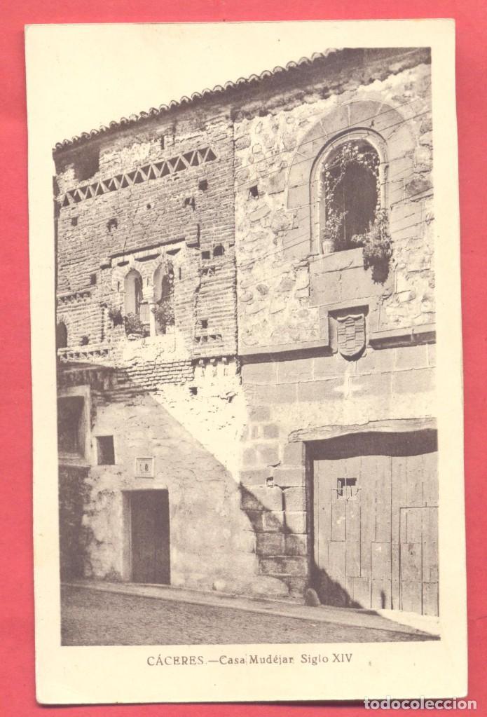 CACERES, CASA MUDEJAR, SIGLO XIV,SIN EDITOR, S/C VER FOTOS (Postales - España - Extremadura Antigua (hasta 1939))