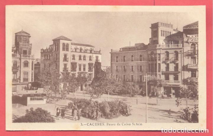 3 CACERES, PASEO DE CALVO SOTELO, SIN EDITOR, S/C VER FOTOS (Postales - España - Extremadura Antigua (hasta 1939))