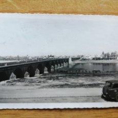 Postales: POSTAL BADAJOZ - 67 PUENTE ROMANO SOBRE EL RÍO GUADIANA 16-9-1955. Lote 225014940