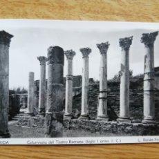 Postales: POSTAL MÉRIDA - COLUMNATA DEL TEATRO ROMANO - L. ROISIN. Lote 225018080