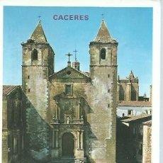 Postais: POSTAL A COLOR 856 CACERES PLAZA DE SAN JORGE E IGLESIA DE SAN FRANCISCO JAVIER EDICIONES PARIS. Lote 225135130
