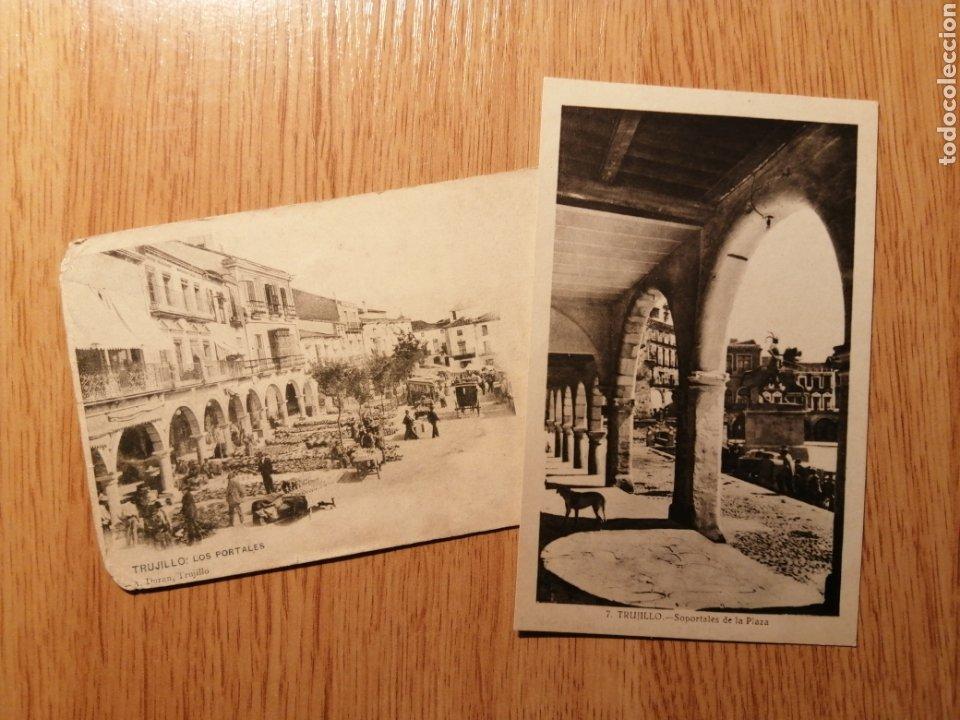 LOTE POSTALES TRUJILLO - LOS PORTALES (Postales - España - Extremadura Antigua (hasta 1939))