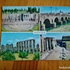 Postales: POSTAL - MERIDA (BADAJOZ) - MONUMENTOS ROMANOS.. Lote 227135030