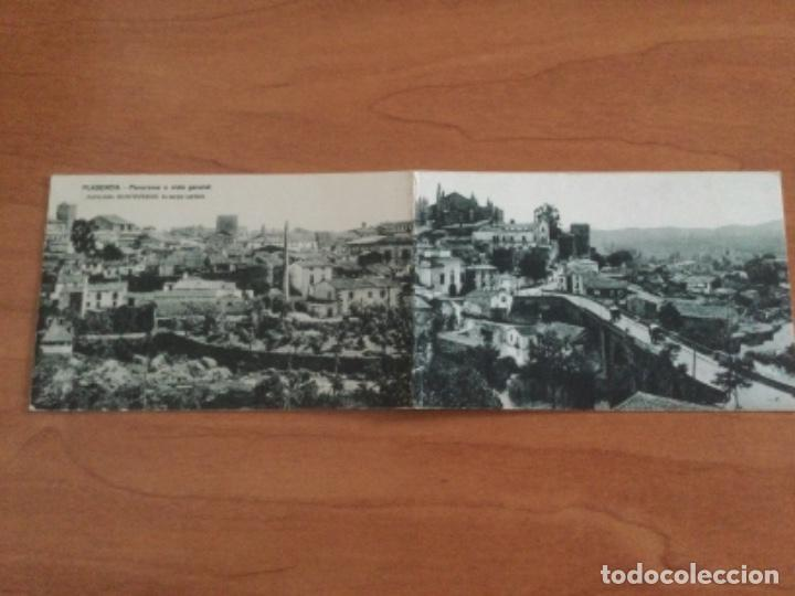 POSTAL DESPLEGABLE PANORÁMICA O VISTA GENERAL DE PLASENCIA. SIN CIRCULAR (Postales - España - Extremadura Antigua (hasta 1939))