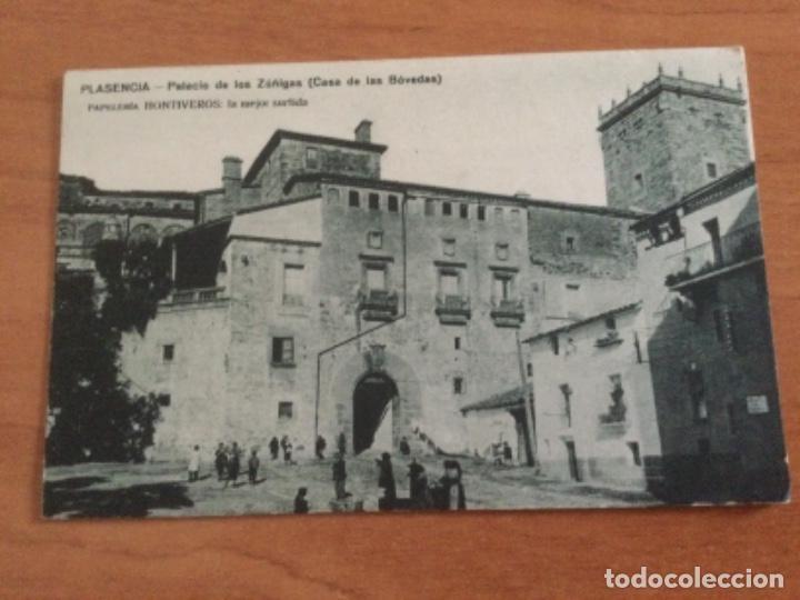 POSTAL PALACIO DE LOS ZÚÑIGA, CASA DE LAS BÓVEDAS. PLASENCIA. SIN CIRCULAR (Postales - España - Extremadura Antigua (hasta 1939))