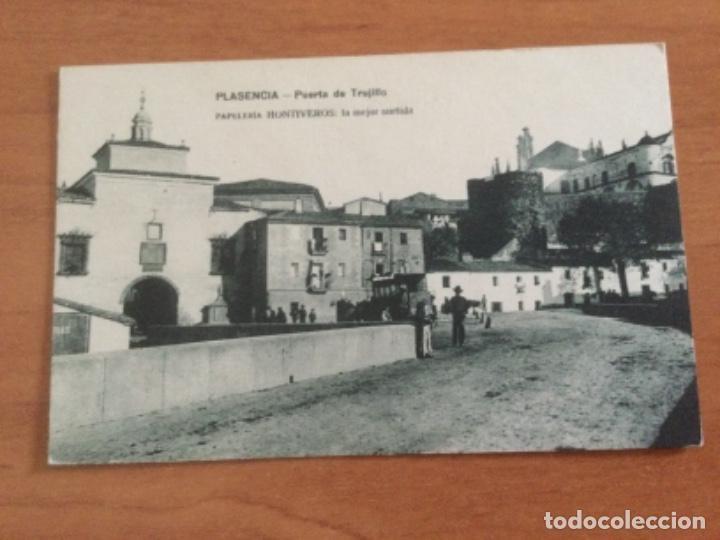 POSTAL PUERTA DE TRUJILLO. PLASENCIA. SIN CIRCULAR (Postales - España - Extremadura Antigua (hasta 1939))