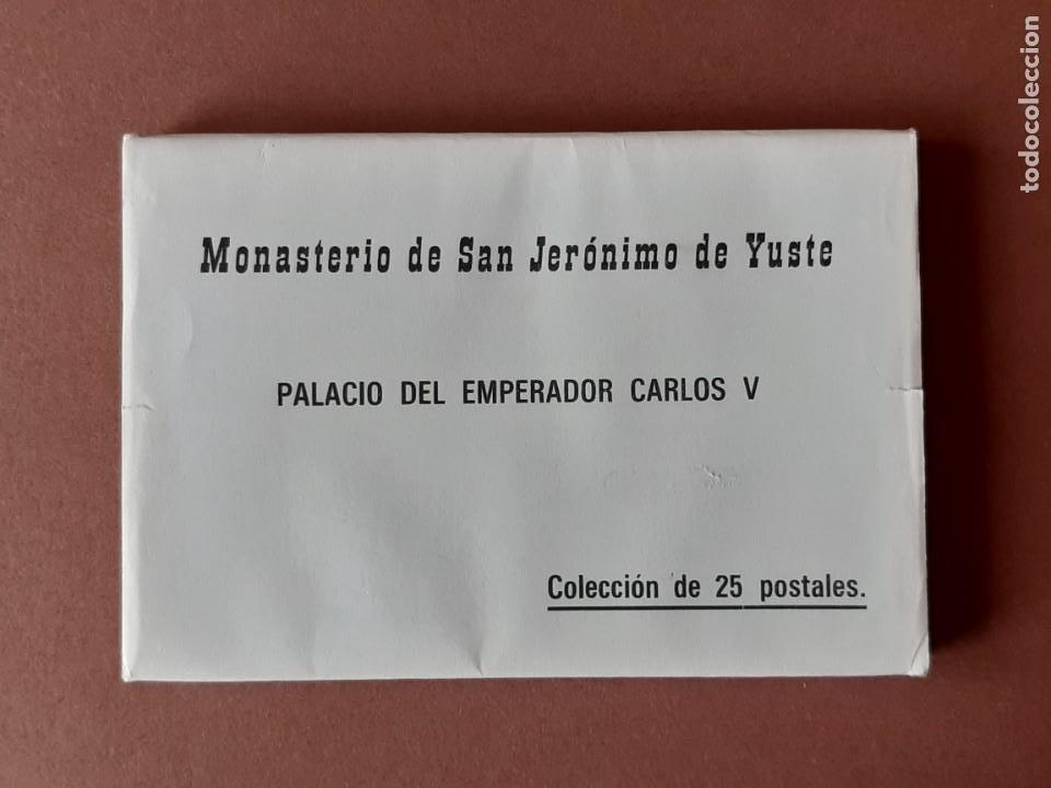 25 POSTALES MONASTERIO DE SAN JERÓNIMO DE YUSTE. CARLOS V. LUÍS PÉREZ. CÁCERES. 1987. SIN CIRCULAR. (Postales - España - Extremadura Moderna (desde 1940))