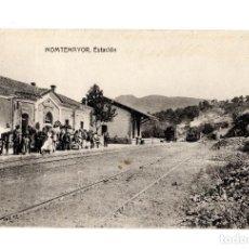 Postales: MONTEMAYOR.(CÁCERES).- ESTACIÓN DEL FERROCARRIL.. Lote 234984530