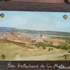 Postales: CUADRO POSTAL RECUERDO DE HELECHOSA DE LOS MONTES, EXTREMADURA. Lote 235282420