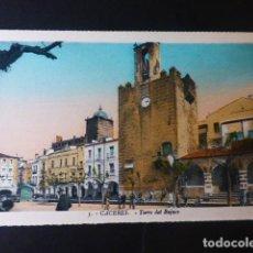 Postales: CACERES TORRE DEL BUJACO ED. L. ROISIN COLOREADA. Lote 235812745