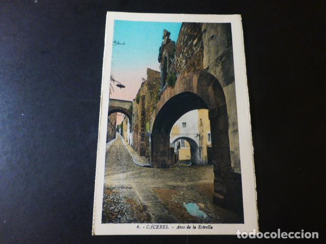 CACERES ARCO DE LA ESTRELLA ED. L. ROISIN COLOREADA (Postales - España - Extremadura Antigua (hasta 1939))