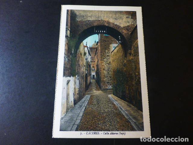 CACERES CALLE ADARVE BAJO ED. L. ROISIN COLOREADA (Postales - España - Extremadura Antigua (hasta 1939))