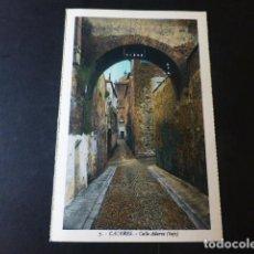 Postales: CACERES CALLE ADARVE BAJO ED. L. ROISIN COLOREADA. Lote 235813770