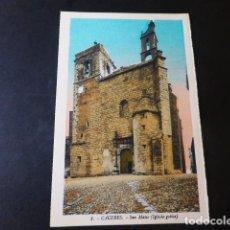 Postales: CACERES SAN MATEO IGLESIA GOTICA ED. L. ROISIN COLOREADA. Lote 235813950